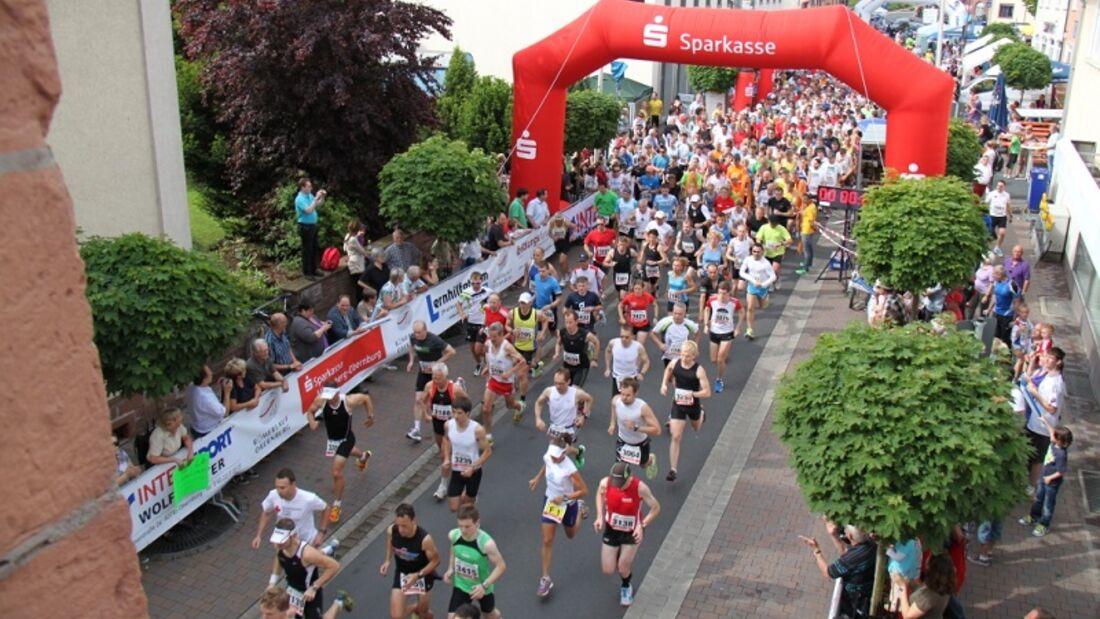 Start zum Römerlauf in Obernburg