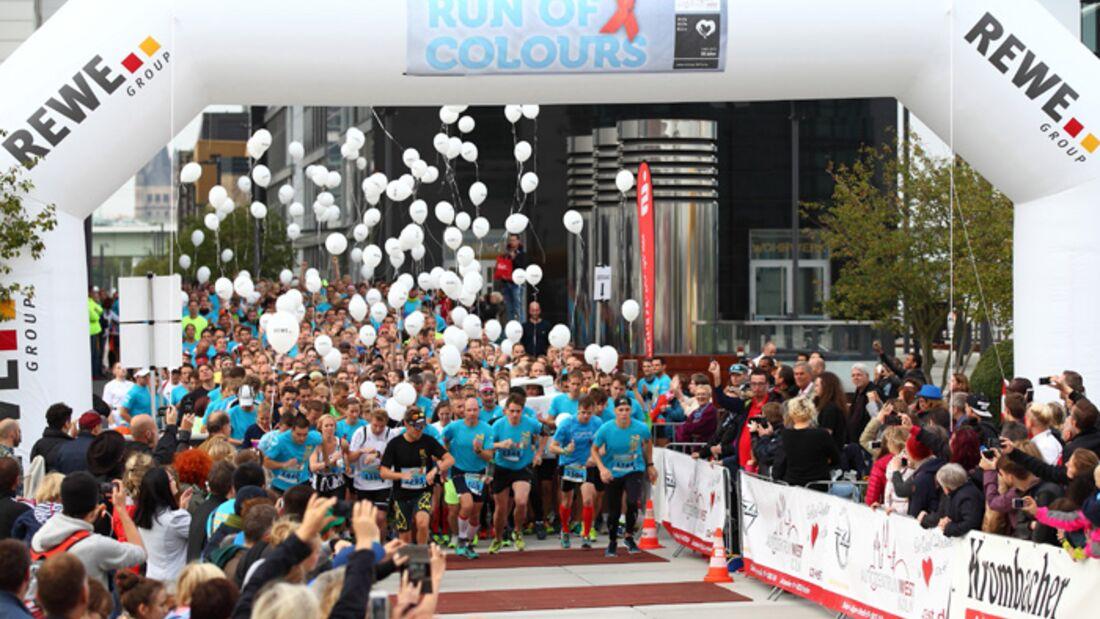 Start zum Run of Colours in Köln