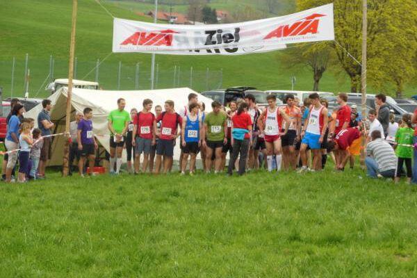 Start zum Simmerberger Frühjahrswaldlauf