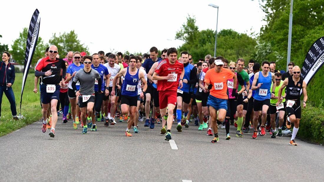 Start zum Springtime Run in Karlsdorf-Neuthard