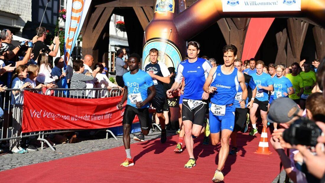 Start zum Team-Marathon Michelstadt
