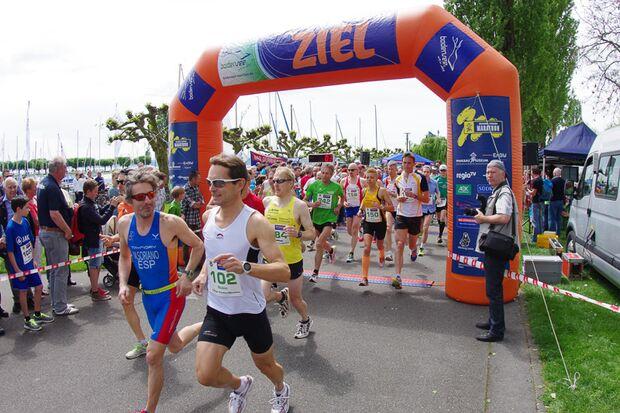 Start zum Uhldinger Pfahlbau-Halbmarathon