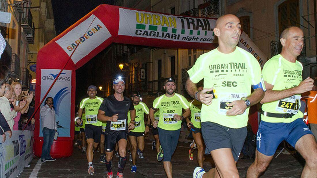 Start zum Urban Trail Cagliari