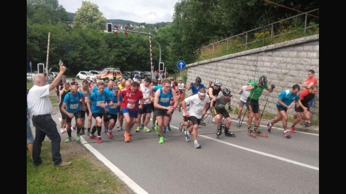 "Start zum ""run vs. bike"" zum Spiegelwald Lauter-Bernsbach"