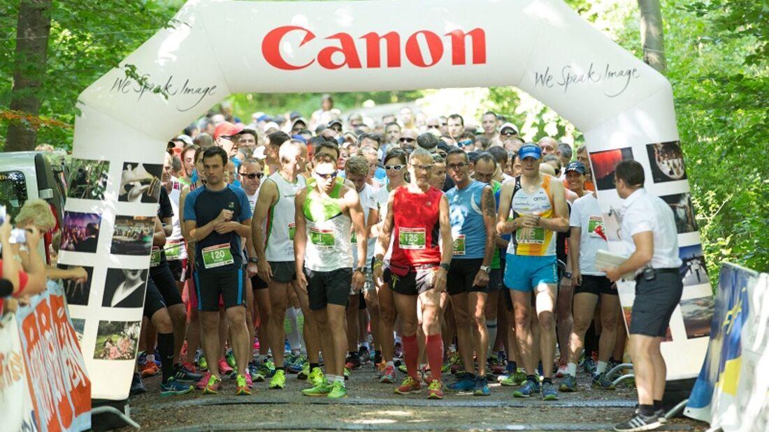 Startaufstellung beim Wienerwaldlauf