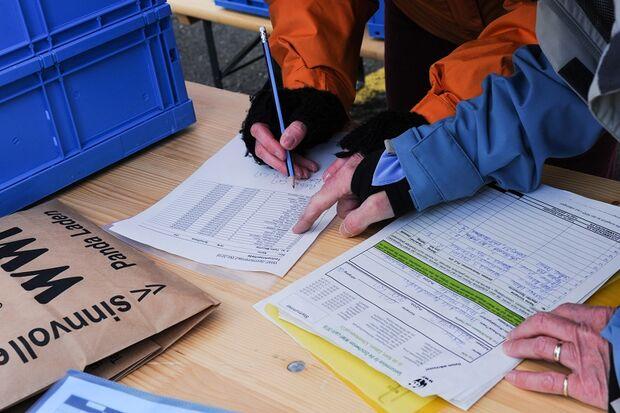 Startunterlagenausgabe bei den Ostschweizer WWF-Läufen