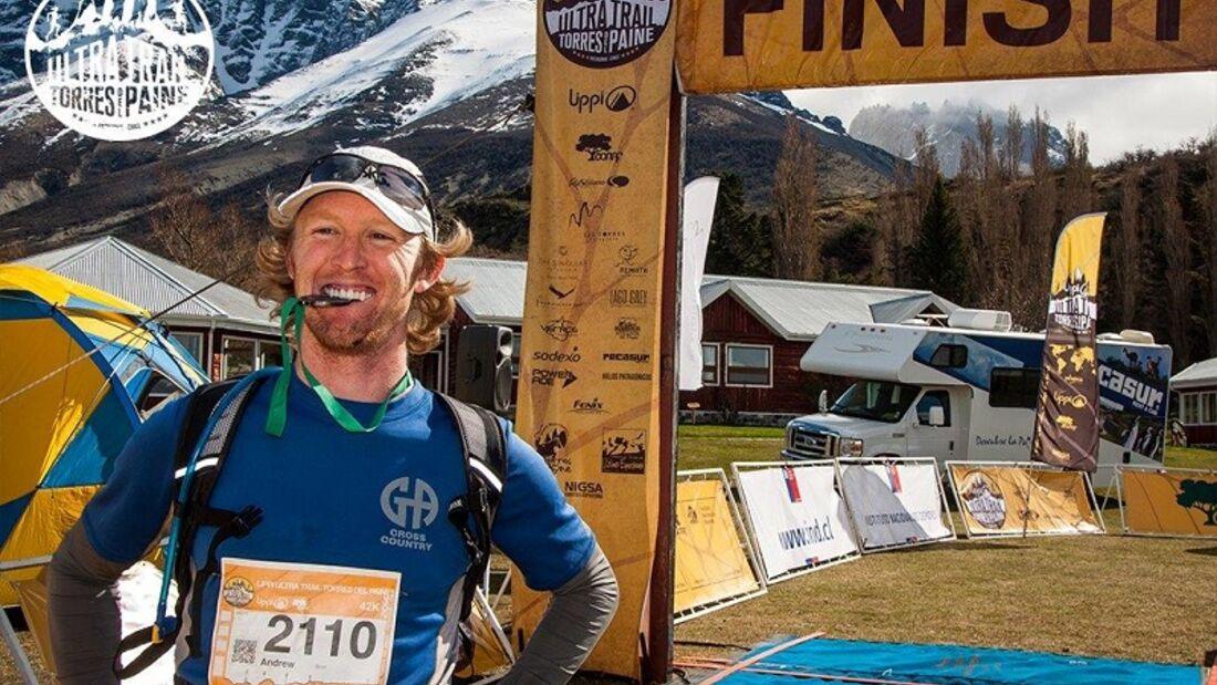 Stolzer Finisher beim Ultra Trail Torres del Paine