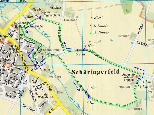 """Straßenlauf """"Rund um die Wibbeltkapelle"""" Ahlen 1"""