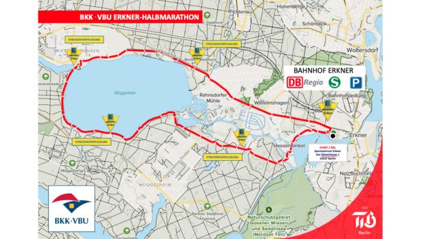 Strecke Erkner-Halmarathon