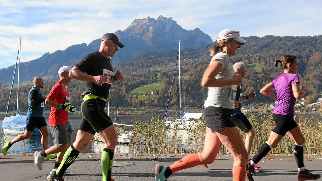 Swiss City Marathon Lucerne: Herbstlauf auf der Horwer Halbinsel