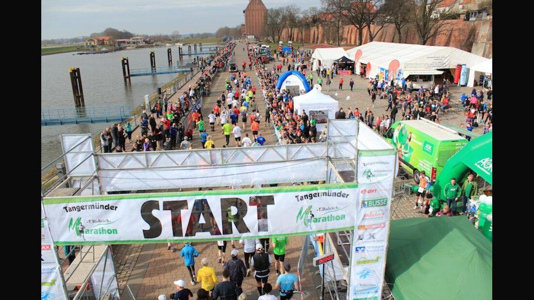 Tangermünder Elbdeichmarathon 2013 Start