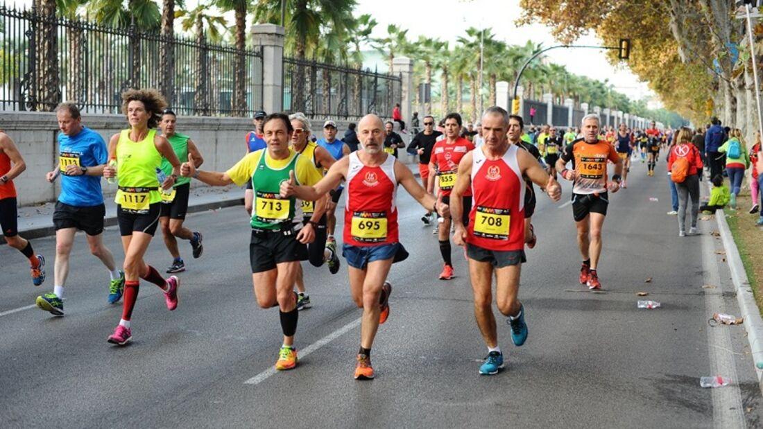 Unterwegs beim Marathon Málaga