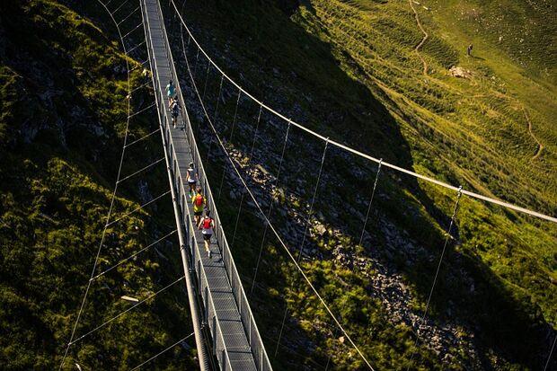 Vertical Open Bad Hofgastein 2018: Ein Wahrzeichen des Stubnerkogels - die 140 Meter lange Hängebrücke