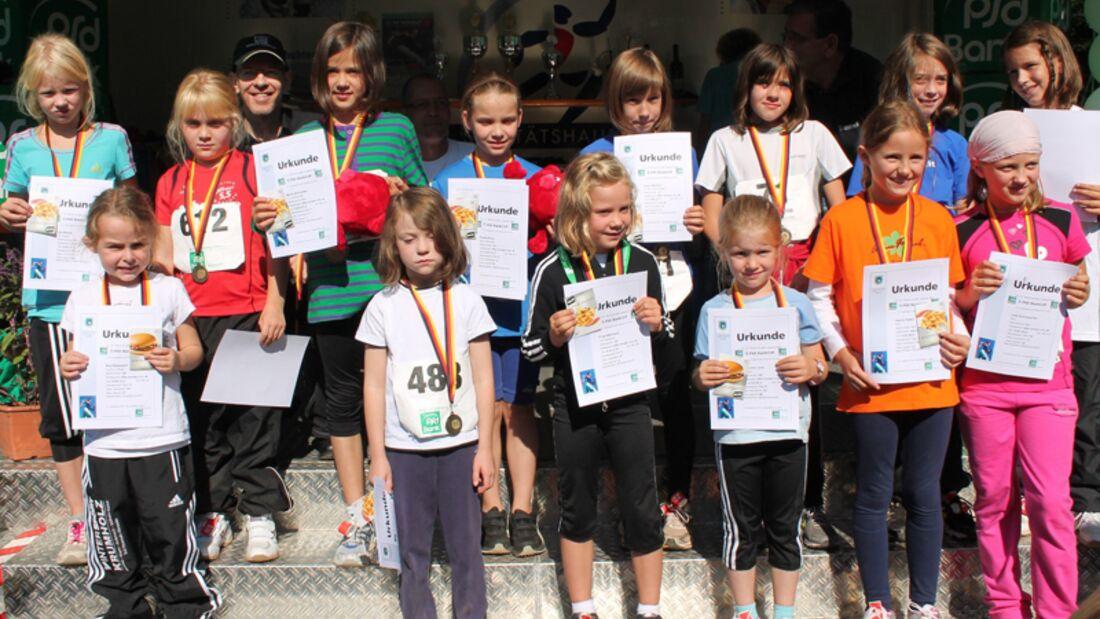Volkslauf Rund um den Laacher See Mendig: Siegerehrung 500 m, Mädchen