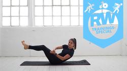 Wach und kraftvoll! Dieser 20-Minuten-Zirkel heizt dem Stoffwechsel ein und stärkt das Körperzentrum.