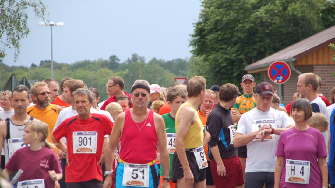 Warten auf den Startschuss zum Drebber-Marathon