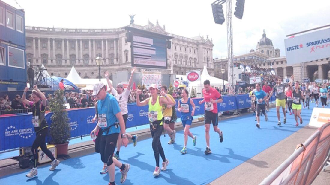 Wien-Marathon Ziel 2015