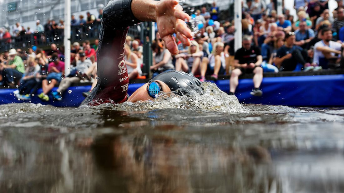 World Triathlon Hamburg 2017 Schwimmstart