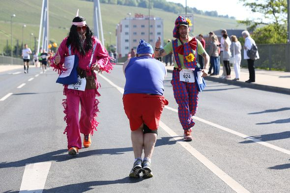 Würzburg-Marathon Spaß 2013