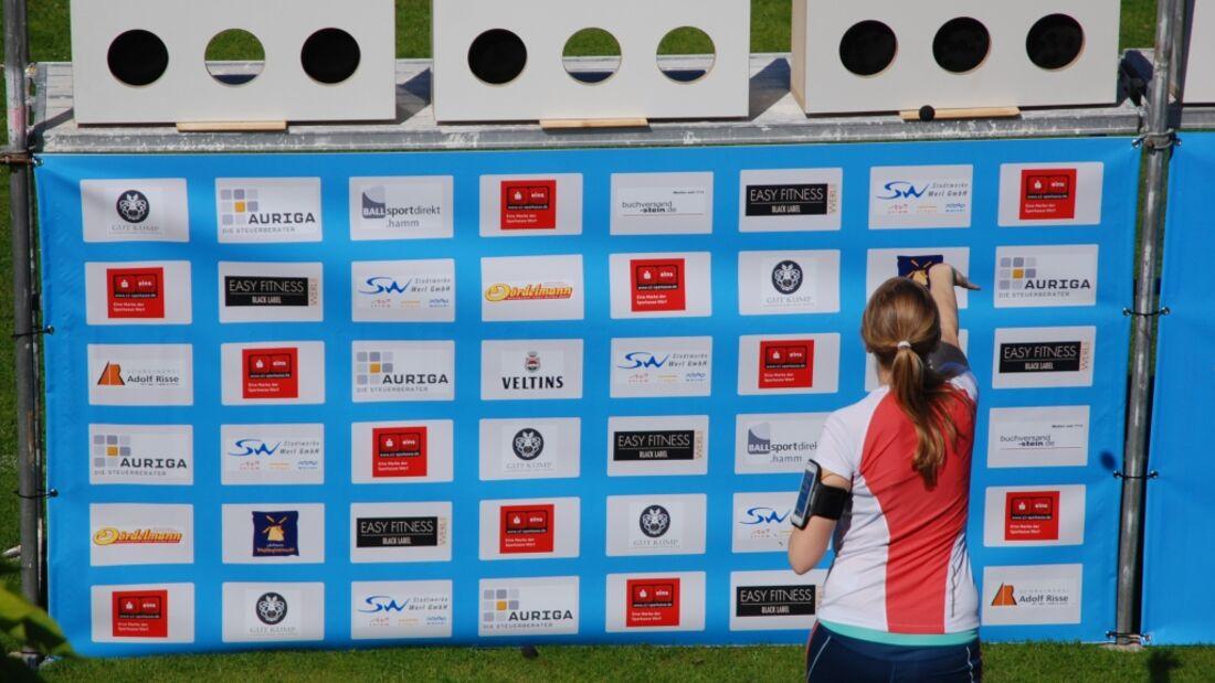 Wurfstation beim Fun-Biathlon in Werl