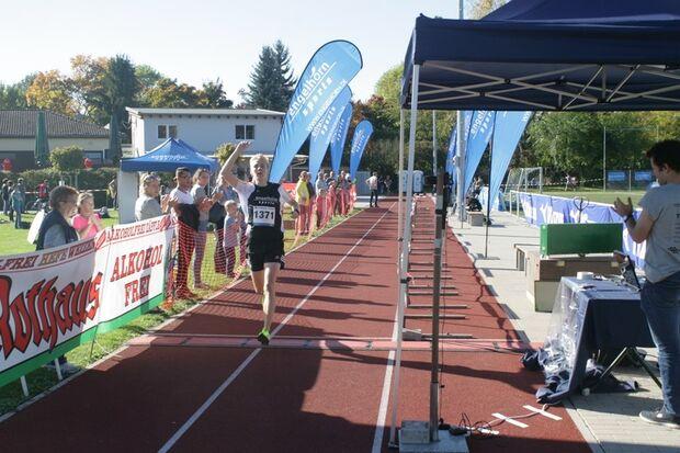 Zieleinlauf beim Herbstlauf in Feudenheim