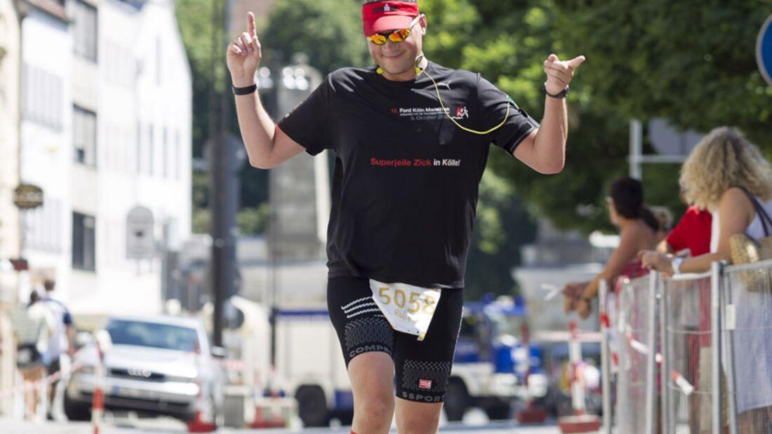 Zieleinlauf beim Herzogstadtlauf in Straubing