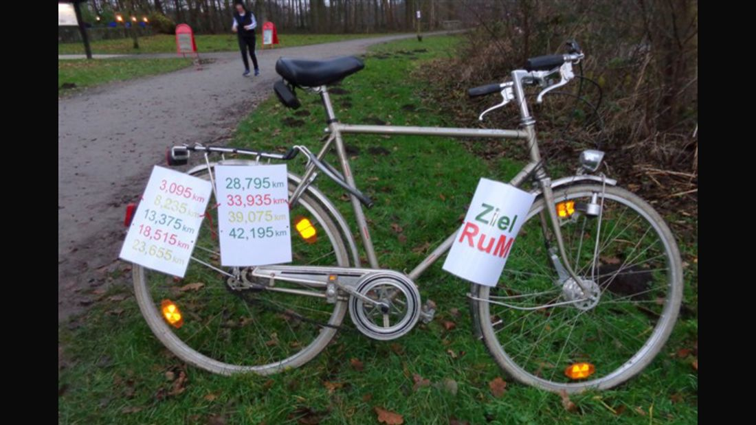 Zielfahrrad beim Rubbenbruchsee-Marathon Osnabrück