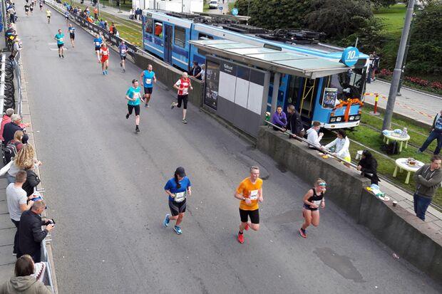 Zielgerade beim Oslo-Marathon