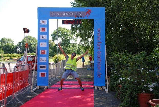 Zieltor beim Fun-Biathlon in Werl