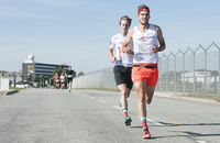 Zwei Läufer beim Airport Race 2018; Hamburg, 16.09.18