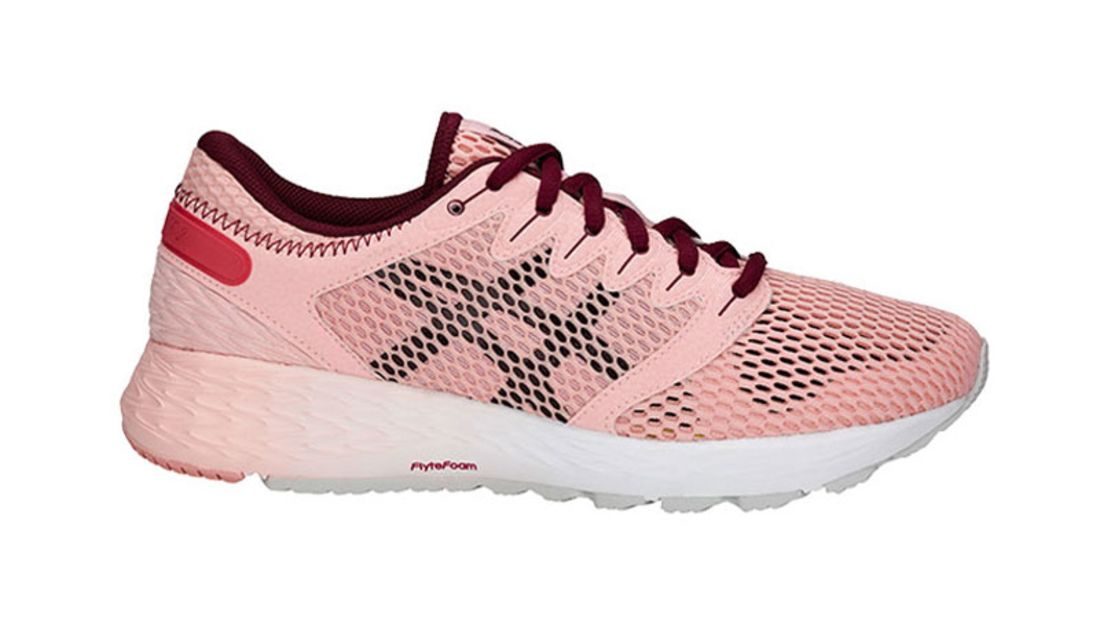 Asics Damen Roadhawk FF 2 MX Turnschuhe Laufschuhe Sneaker Rosa Sport Jogging